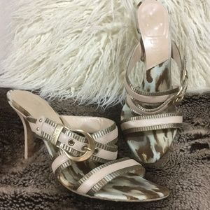 Authentic Dior blush pink nude leather sandals