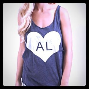 "Home Apparel Tops - NWT Home State Apparel ""AL"" Tank"