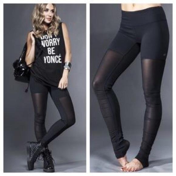 470c9b4fe3 ALO Yoga Pants | Alo Mesh Goddess Legging Blacksmall | Poshmark