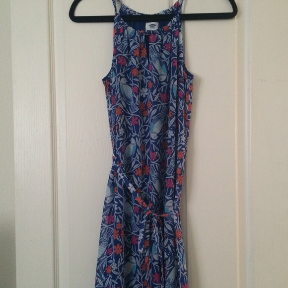 Old navy maxi dress with birds