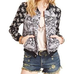 Free People Jackets & Blazers - Free People Flora Bomber Baseball Jacket