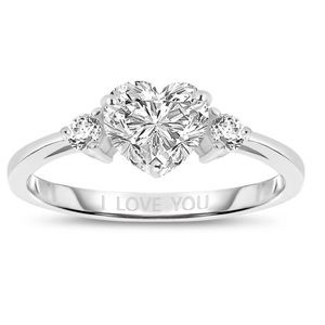 @hydrogirl Jewelry - 🎀925 Silver Cubic Zirconia Heart Ring🎀