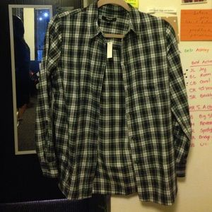 NWT Madewell flannel slim boy shirt