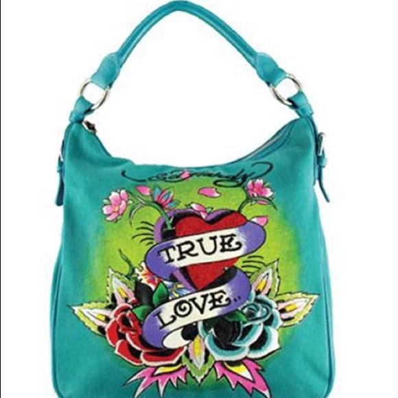 Ed Hardy Handbags - True Love AUTHENTIC Ed hardy Bag 800cc3579763b