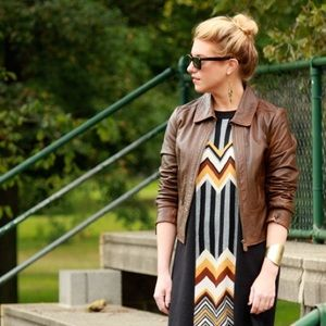 ALICE by Temperley Jackets & Blazers - Alice Temperley for Target Brown Boho Leather  M
