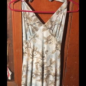 Light blue dress with flowers size medium by ruby