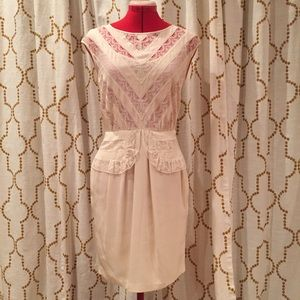 Cynthia By Cynthia Steffe Lace Silk Dress 6 small
