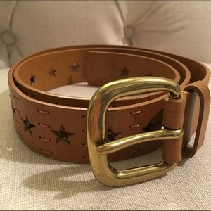 Leather Belt w/ Stars
