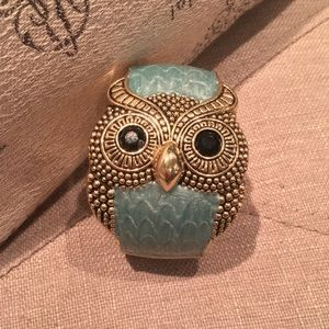 Jewelry - blue hinged owl cuff