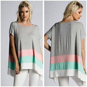 SALE  Tri Color Tunic Size S,M