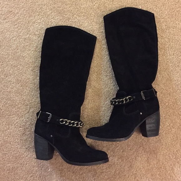 57 bcbg shoes bcbg black suede boots from s