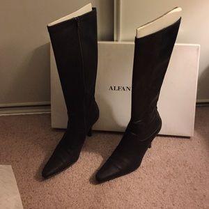 Chocolate Alfani leather boots
