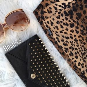 Moschino jeans leopard print cropped pants