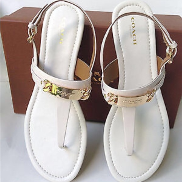 Coach Patent Leather Thong Sandals buy cheap brand new unisex from china online pmnri2