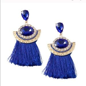 T&J Designs Jewelry - Cobalt blue tassel earrings