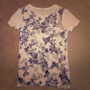 Jcrew floral t shirt