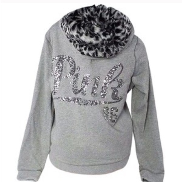 62ca3f85e1b1 PINK Victoria's Secret Sweaters | Vs Pink Snow Leopard Hoodie With ...