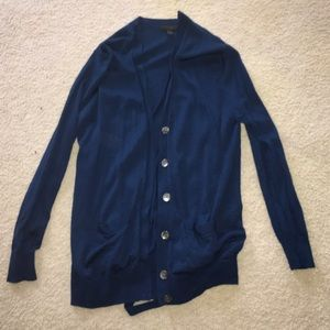 J Crew jcrew Blue Wool Cardigan Sweater XS Look!