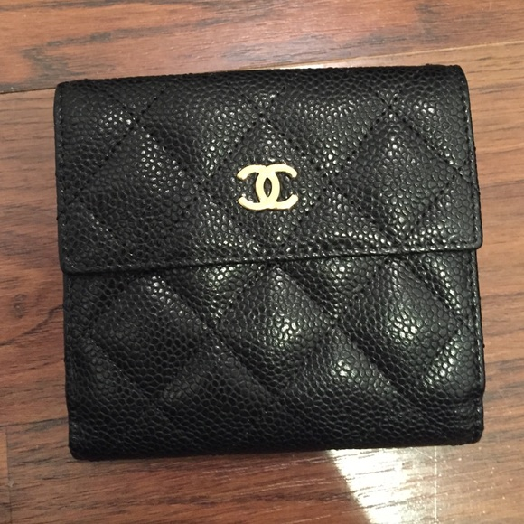 f6751a9d9d5 CHANEL Handbags - Chanel Small S-Double Wallet in Black Caviar