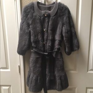 Manoush rabbit fur coat