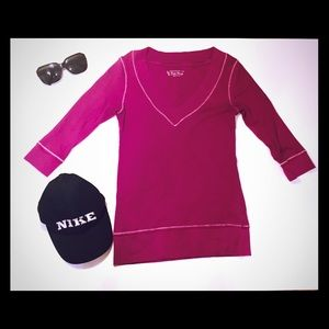 😍 Raspberry color 3/4 sleeve shirt