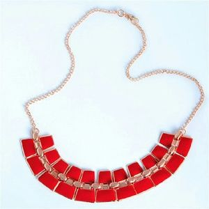 Jewelry - New modern red and gold necklace.