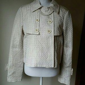 BCBG Maxazria Cream double breasted jacket