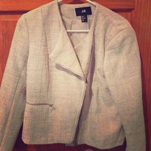 Tweed Moto Blazer