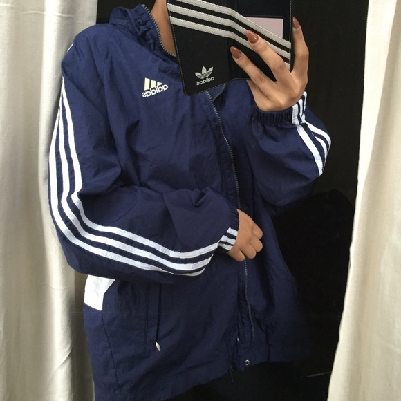 beab68346d7e Adidas Jackets   Blazers - TODAY ONLY 🎉 Navy and white adidas windbreaker