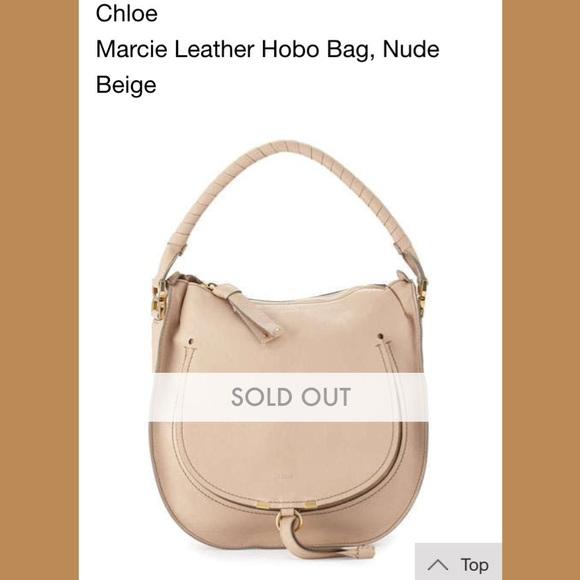 30ba1fd5c Chloe Handbags - Chloe Marcie nude leather hobo bag: used 2 times
