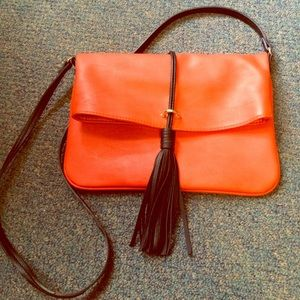 H&M faux Leather Foldover Crossbody purse