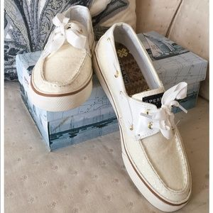 Sperry Top-Sider Shoes - 🎀🎀NIB, Sperry Top-Sider White Glitter Shoes🎀🎀