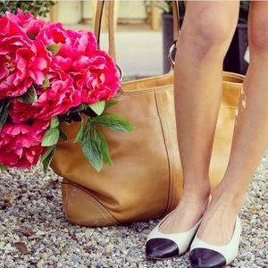 Coach Handbags - {Coach} Tan Leather Tote Bag