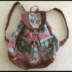 Sugar Candy Handbags - Aztec / Tribal sugar candy skull backpack