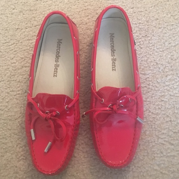 30efe73c752 Benz Loafers 39 Poshmark Red Patent Leather Mercedes Shoes Size RqdpR