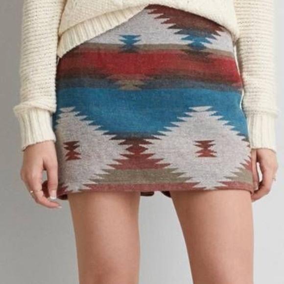 ed21f9c042 American Eagle Outfitters Skirts | Aeo Tribal Skirt | Poshmark