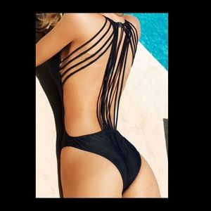 Other - Strappy black one piece