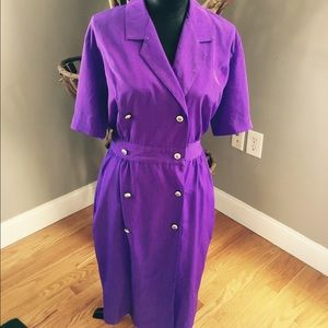 Beautiful pinup vintage purple dress