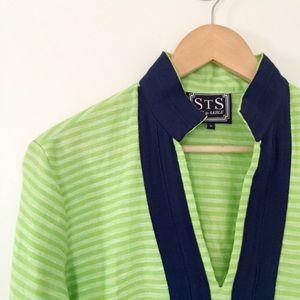 ☘Sail to Sable striped linen tunic dress☘