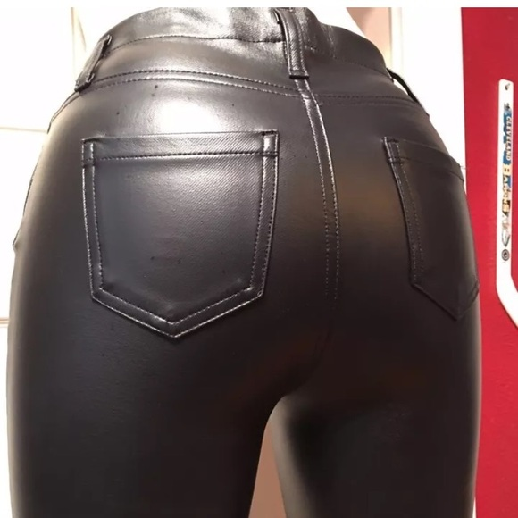 catch affordable price sale retailer Skinny Faux Leather Pants-Faded Glory Size 16-18