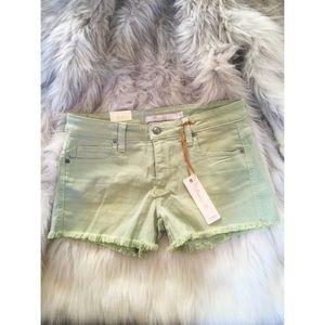Frankie B. Pants - Frankie B perfect fit green cutoff mint shorts 25