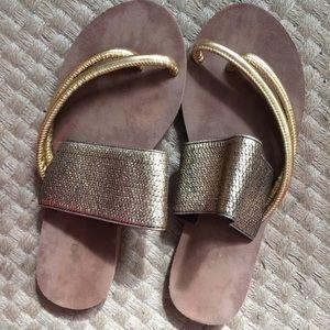 Fabulous golden Grecian sandals