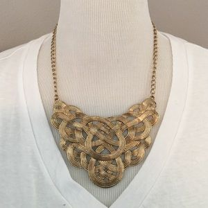 Amrita Singh Jewelry - Twisted Knot Gold Necklace