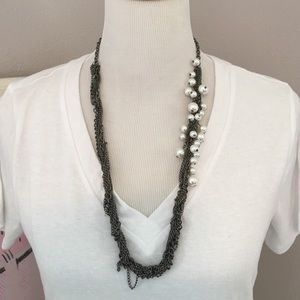 Jewelry - Nordstrom Edgy Chains and Pearls Long Necklace