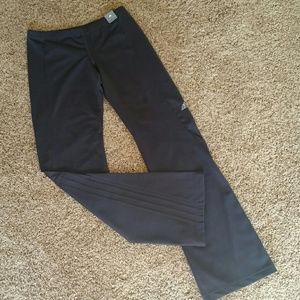 New Adidas gray fitted workout pants-boot leg