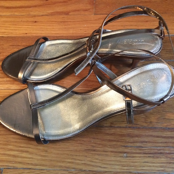 4232bcf48f0e J. Crew Shoes - Jcrew Mirror metallic kitten-heel sandal