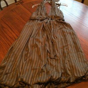 BCBG Halter dress with bubble hem