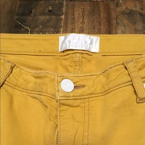 Acne Studios Yellow Skinny/Straight Leg Jeans