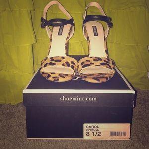 ShoeMint animal print heels