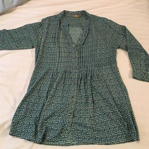 Printed pattern tunic dress